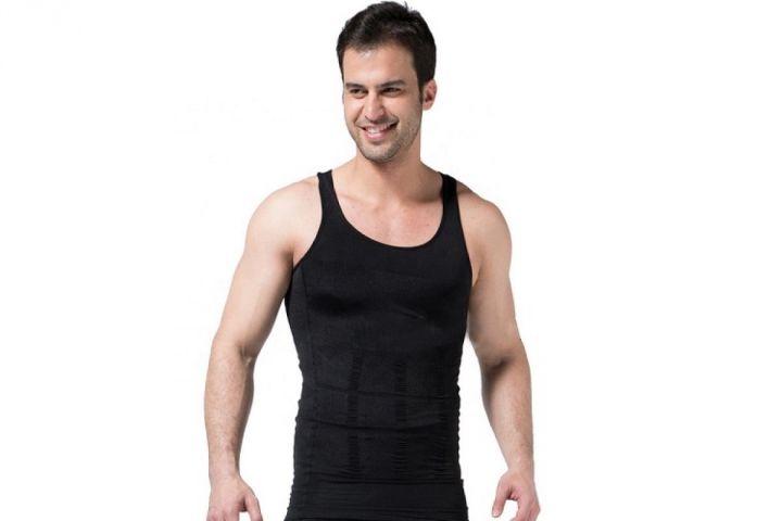 Мужская корректирующая майка Slim'n Lift подтягивает мышцы живота, формирует правильную осанку.