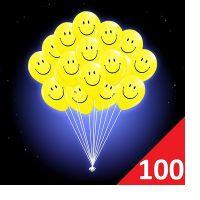 100 светящихся шаров смайл