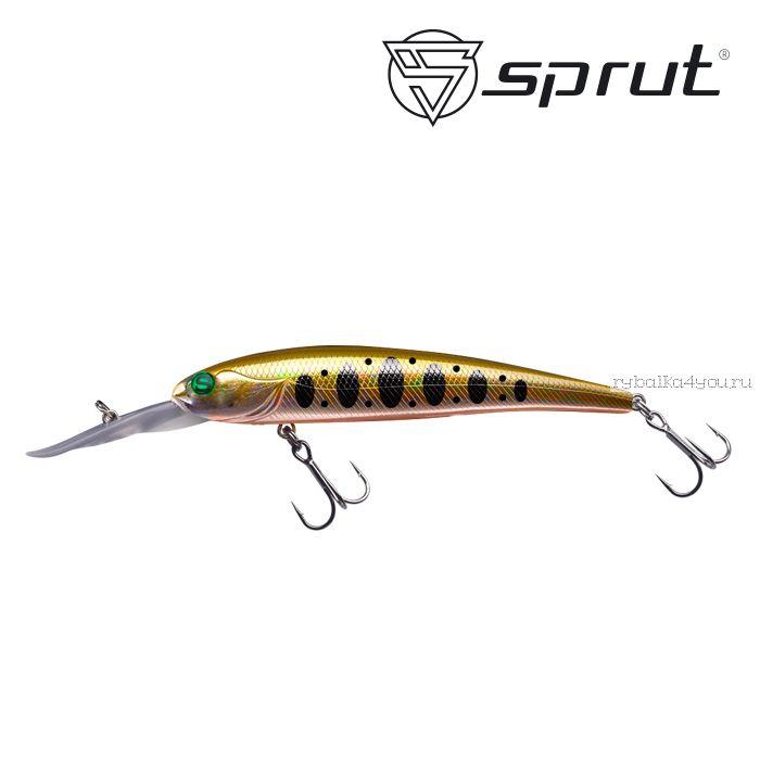 Воблер Sprut Taiho D  90F 90 мм / 8,5 гр / Заглубление: 2,5-3,5 м / цвет: GDN1