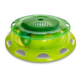 HomeCat Игрушка д/кошек Трэк пластиковый с мячиком и контейнером для кошачьей мяты