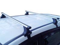 Багажник на крышу Nissan Teana L33, Атлант, аэродинамические дуги Эконом, опора Е