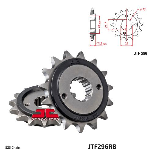 Звезда ведущая JTF296.16 Rubber
