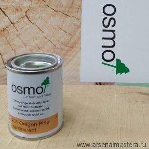 Защитное масло - лазурь для древесины для наружных работ OSMO Holzschutz Ol-Lasur 731 Сосна орегон 0,125 л