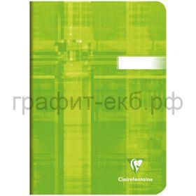 Тетрадь А5 48л.кл.Clairefontaine Mimesys глянцевая ламинация зеленая 90г/м2 63682C_green