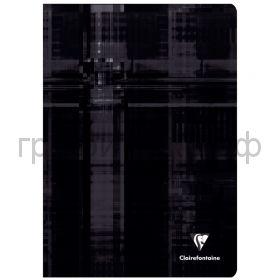 Тетрадь А4 48л.кл.Clairefontaine Mimesys глянцевая ламинация черная 90г/м2 63162C_black