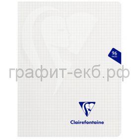 Тетрадь 170х220 48л.кл.Clairefontaine Mimesys пластик белая 90г/м2 303742C_white