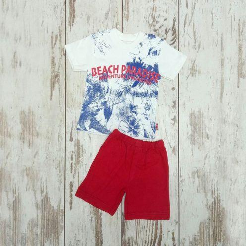 Костюм beach paradis: футболка, шорты