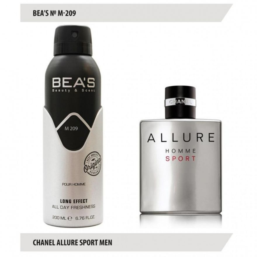 Дезодорант BEA'S M 209 - Chanel Allure Homme Sport For Men 200мл