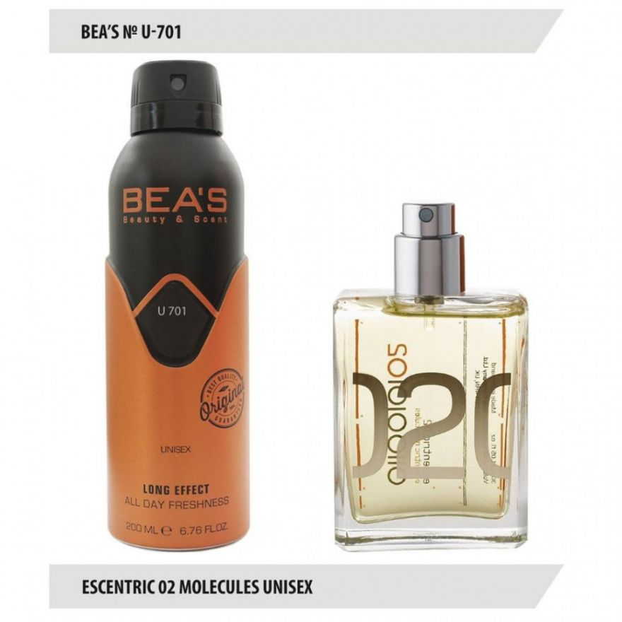Дезодорант BEA'S U 701 - Escentric Molecules Escentric 02 Unisex 200мл