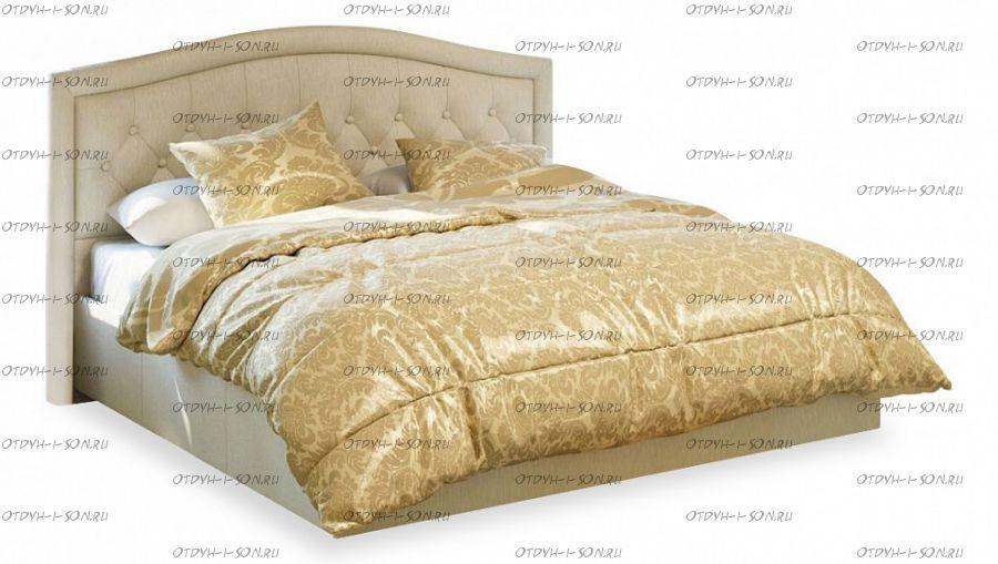 Кровать мягкая Адель СМ-300.01.11(5) с подъемным механизмом (1600) Крем