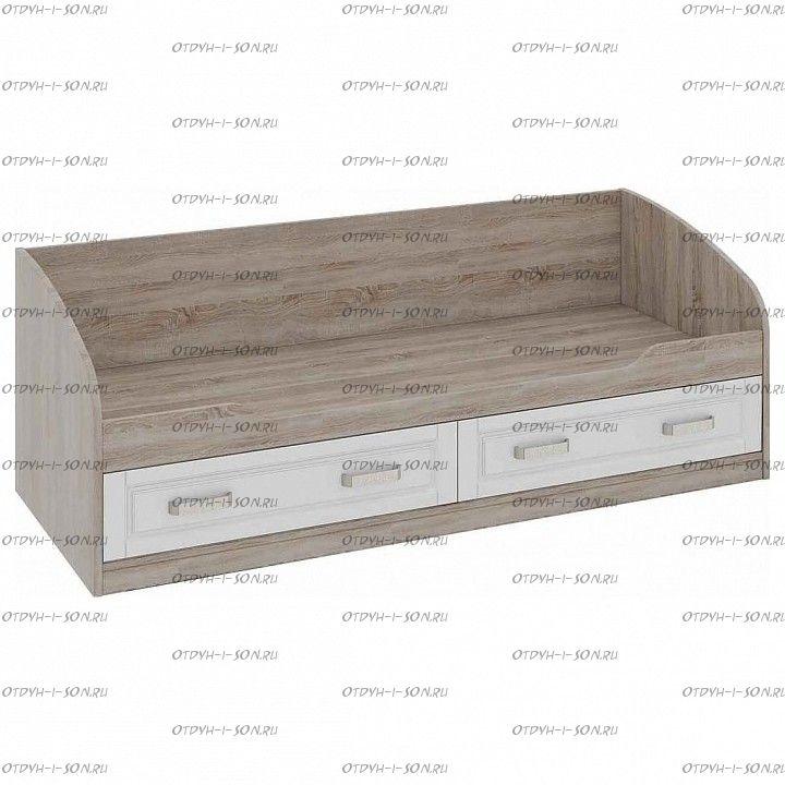 Кровать с 2 ящиками Прованс ТД-223.12.01 Дуб Сонома трюфель/Крем