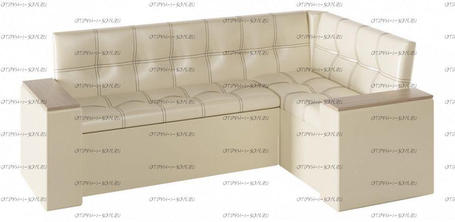 Кухонный уголок Остин со спальным местом исп.2 Дуб Сонома трюфель/Кожзам светлый