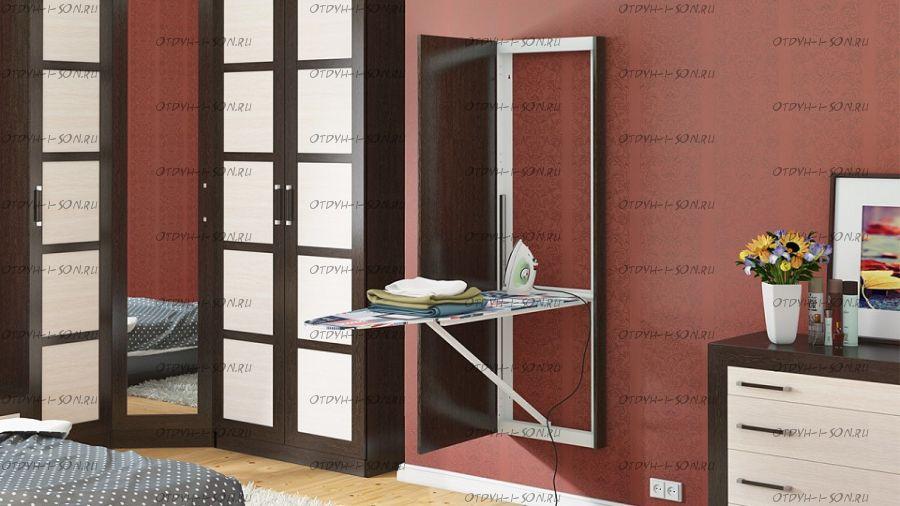Панель с зеркалом со встроенной гладильной доской ТД 901.16 Тип-1 Венге Цаво