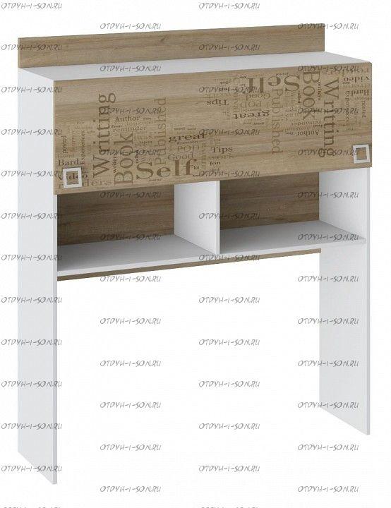 Полка настольная Оксфорд ТД-139.15.11 Ривьера/ Белый с рисунком