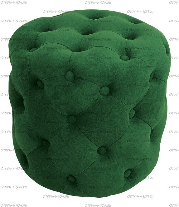 Пуф Милана Тип 1 Велюр Темно-зеленый