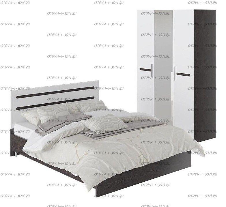 Спальня Фьюжн ГН-260.000 Цвет: Белый глянец, Венге Линум