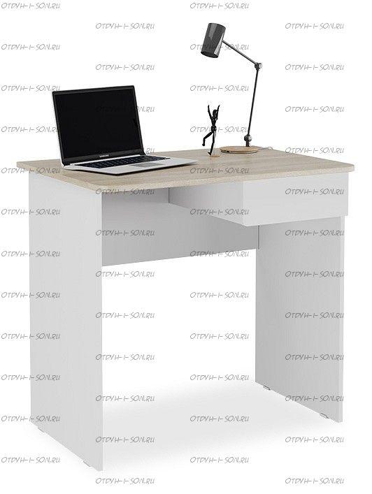 Стол компьютерный Diamond тип 1 new!! Дуб Сонома/ Белый