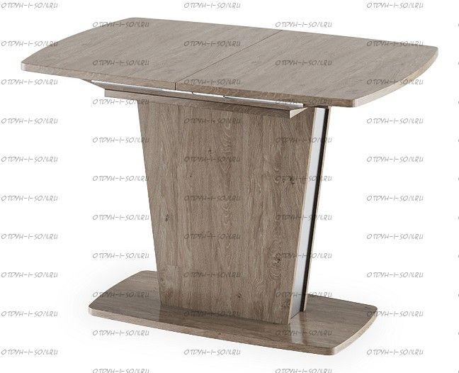 Стол обеденный Ливерпуль Тип 1 Дуб Сонома трюфель/Металлик