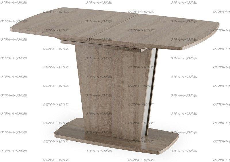 Стол обеденный Ливерпуль Тип 2 Дуб Сонома трюфель/Металлик