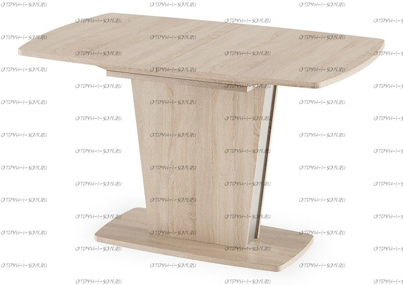 Стол обеденный Ливерпуль Тип 2 Дуб Сонома/Металлик