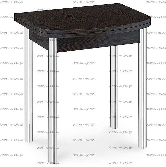 Стол обеденный Лион (мини) с хромированными ножками СМ-204.01.2 Венге