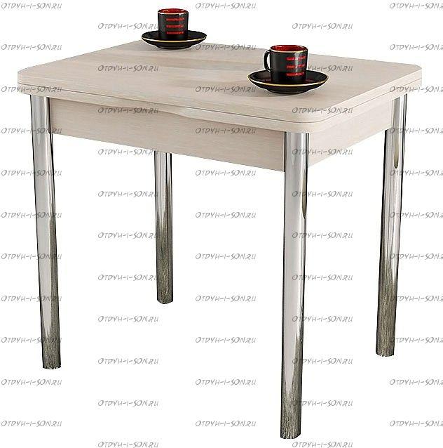 Стол обеденный Лион с хромированными ножками СМ-204.02.2 Дуб Белфорт