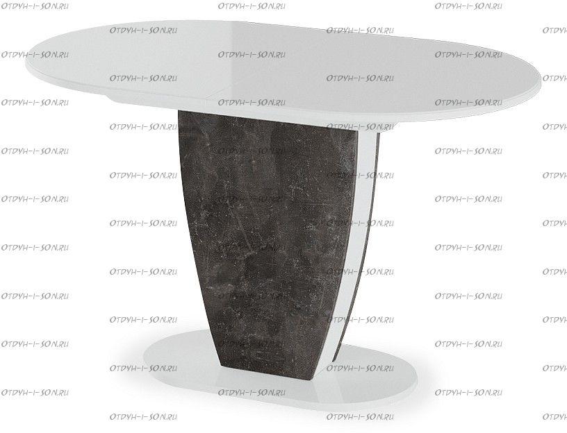 Стол обеденный Монреаль Тип 1 Белый глянец/моод темный