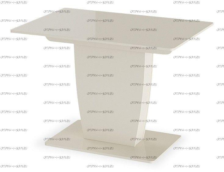 Стол раздвижной Монтана Тип 1 (1100х770х750) Бежевый глянец