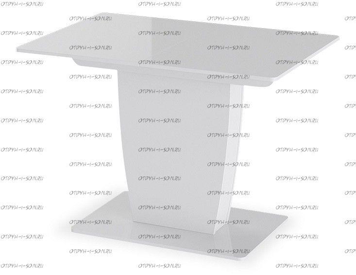Стол раздвижной Монтана Тип 1 (1100х770х750) Белый глянец