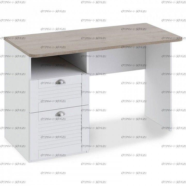 Стол с ящиками Ривьера ТД 241.15.02 Дуб Бонифацио/ Белый