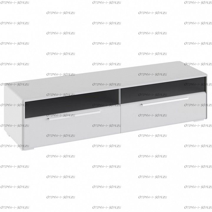 Тумба для ТВ Наоми ТД-208.03.11 Белый глянец