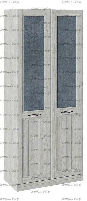 Шкаф для одежды с 2 глухими дверями Кантри СМ-308.07.220 (з) Замша синяя/Винтерберг