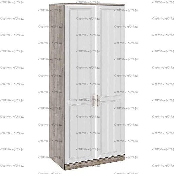 Шкаф для одежды с 2-мя глухими дверями Прованс СМ-223.07.003 (580) Дуб Сонома трюфель/Крем