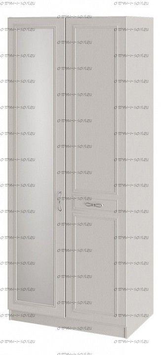 Шкаф для одежды Сабрина СМ-307.07.021R с 1 глухой и 1 зеркальной дверью правый Кашемир