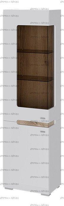 Шкаф для посуды Квадро ТД 281.07.25 L Белый глянец, Дуб Делано