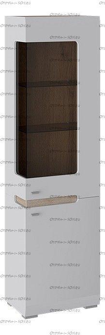 Шкаф для посуды Квадро ТД 281.07.25R Белый глянец, Дуб Делано