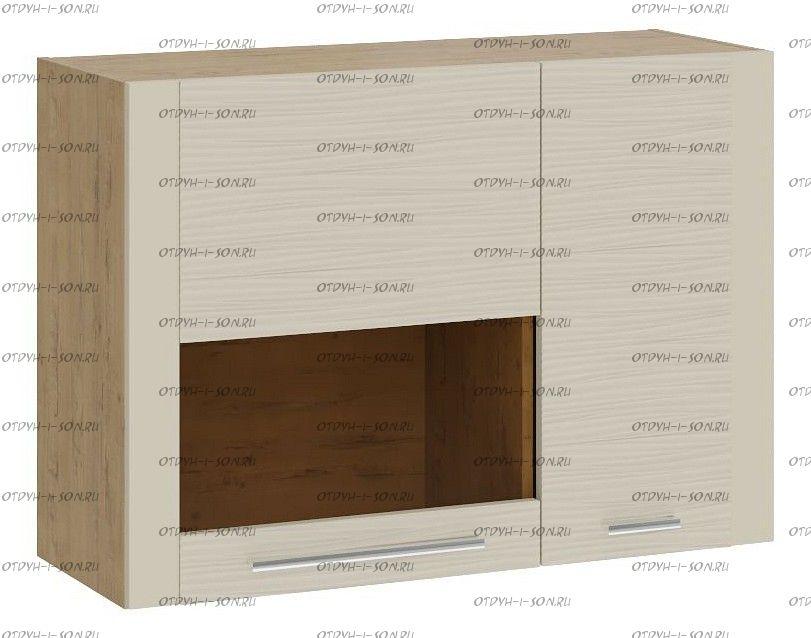 Шкаф настенный малый с 2 дверями Николь ТД-296.03.33 Бунратти/Фон Бежевый