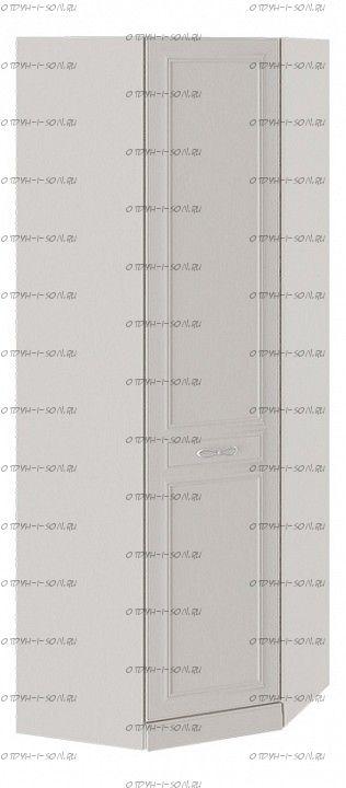 Шкаф угловой Сабрина СМ-307.07.230-01L с 1 глухой дверью левый с опорой Кашемир