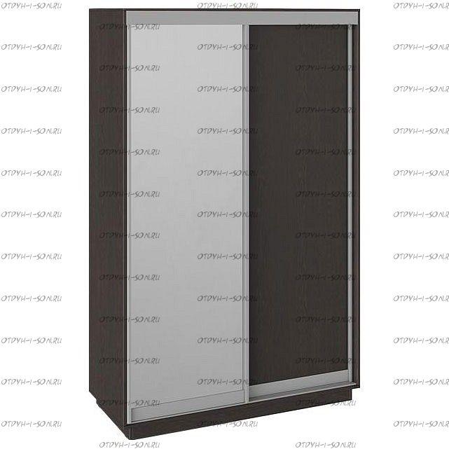 Шкаф-купе 2-х дверный Румер СШК 1.140.70-11.13 (1400x600x2200) Венге, Венге/зеркало