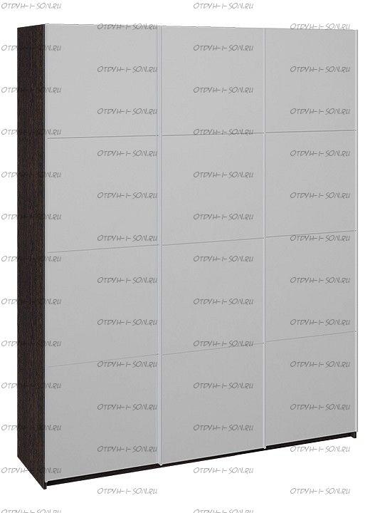 Шкаф-купе 3-х дверный Траст СШК 2.180.60-13.13.13 (1800x580x2300) Венге, Зеркало/зеркало/зеркало