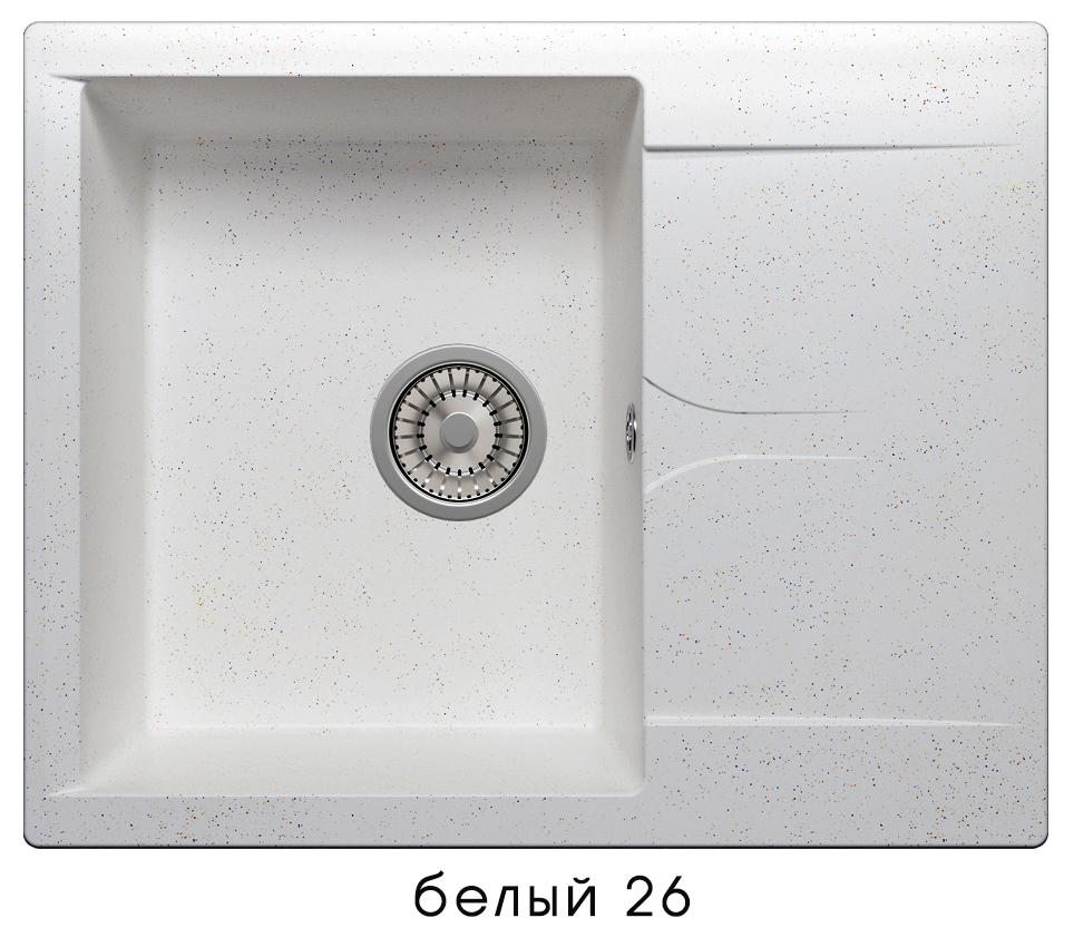 Кухонная мойка POLYGRAN Gals-620 (Gals-620 № 26 белый)
