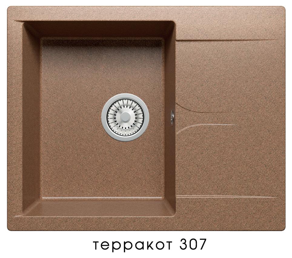 Кухонная мойка POLYGRAN Gals-620 (Gals-620 № 307 терракот)