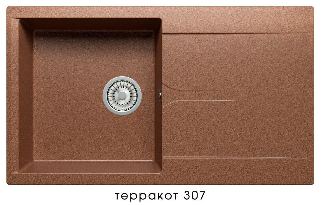Кухонная мойка POLYGRAN Gals-860 (Gals-860  № 307   терракот)