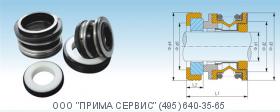 """Торцевое уплотнение BSE-3/4"""" CAR/CER/NBR"""