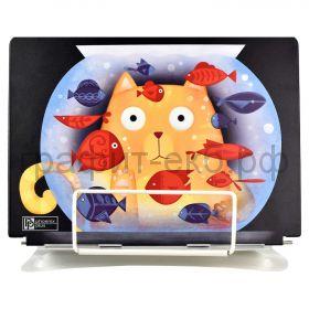 Подставка для книг Феникс+ Кот с аквариумом 6 углов наклона, регулировка высоты, металл 54104