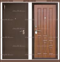Входная дверь XL Мини 1900 х 860 Тёмный орех  Россия