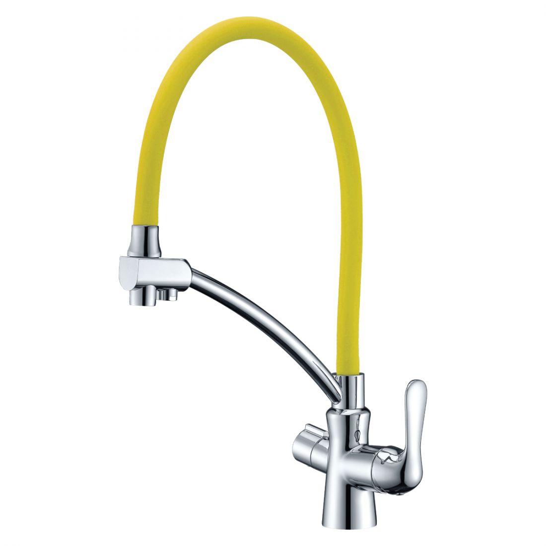 Смеситель для кухонной мойки Lemark Comfort (LM3070C-Yellow)