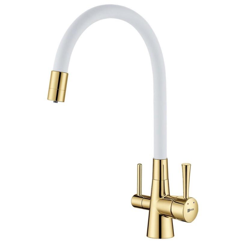 Смеситель Lemark Comfort (LM3075G-White) для кухни  с подключением к фильтру с питьевой водой