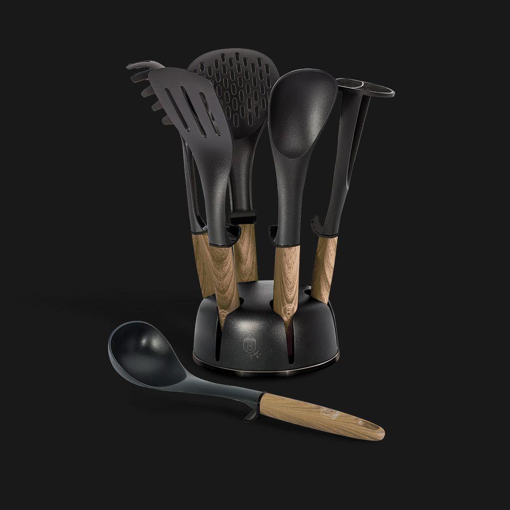 Набор кухонных принадлежностей 7 пр. Berlinger Haus BH-6220 Ebony Maple Collection