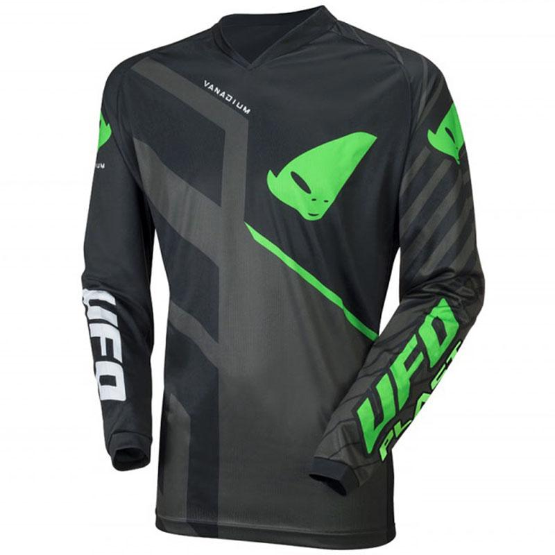 UFO Vanadium Jersey Black/Neon Green джерси для мотокросса и эндуро